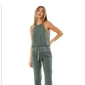 Young fabulous & broke army green jumpsuit romper